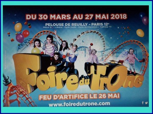 FOIRE DU TRONE    2018  PARIS