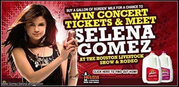 Découvrez le promoshoot de Selena pour un concert qui aura lieu à Houston (au Texas)