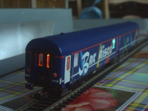 SNCB NMBS BAR DISCO SR2 LS Models MP3 + Leds Ambiance HO ( PHOTO 14 )