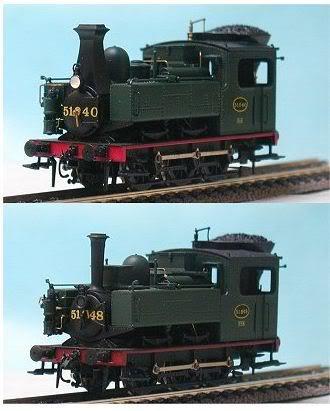 2 locomotive vapeur 51.940 et 51.948