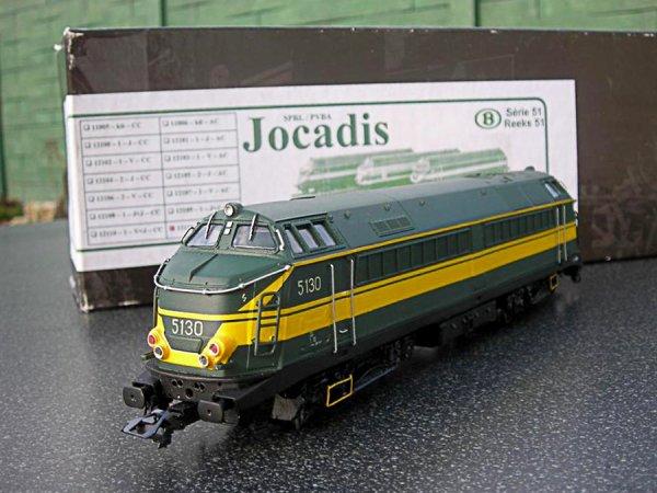"""locomotive diesel """" 5130 """" de Jocadis en livrée verte - jaune"""