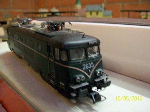 notre superbe locomotive electrique mehano Prestige serie 26 en livrée verte