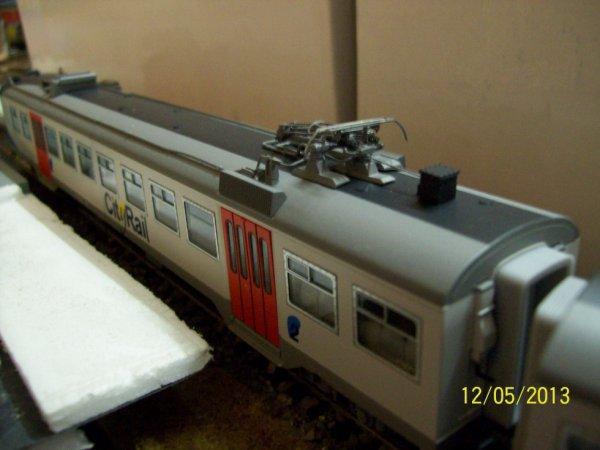 """notre SUPERBE automotrice électrique série 74 """" Cityrail """" de Jocadis ( vue de la voiture motorisée )"""