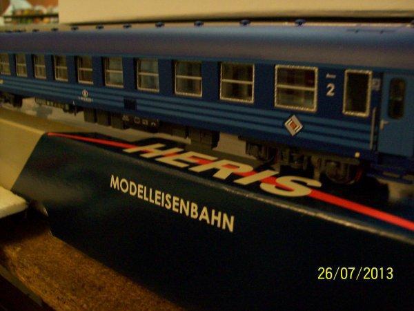 notre voiture I5 BC 10 RailTour / couchette en livrée bleue