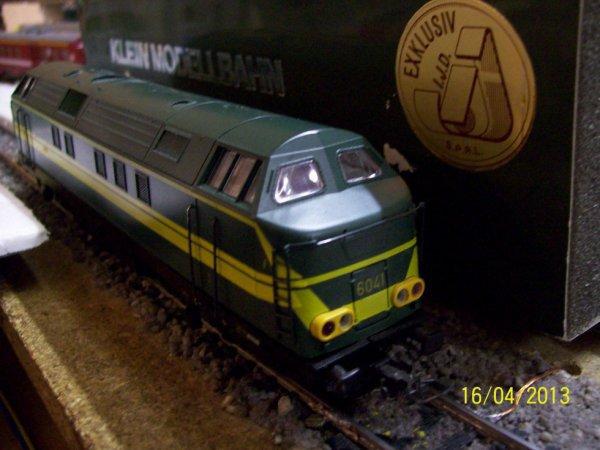 notre locomotive Klein Modellbahn série 62 en livrée verte / jaune