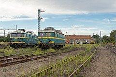 """Saint-Ghislain : """"musée du train"""" avec divers locos en expo ( la série 26 est présente )"""