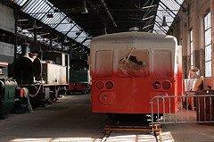 """Saint-Ghislain : """"musée du train"""" restauration d'un autorail série 59 ( elle n'a pas encore fini actuellement )"""