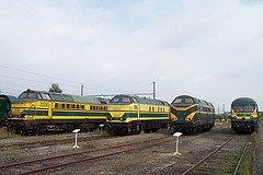 """Saint-Ghislain : """"musée du train"""" avec divers locos en expo"""