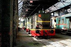 """Saint-Ghislain : """"musée du train"""" avec un locotracteur 7706 en expo"""