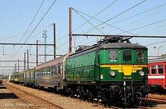 """Saint-Ghislain : """"musée du train"""" avec une loco électrique série 25 en expo"""