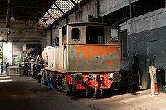 """Saint-Ghislain : """"musée du train"""" restauration d'une petite vapeur ( elle n'a pas encore fini actuellement )"""