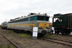 """Saint-Ghislain : """"musée du train"""" avec une loco électrique série 18 en expo"""