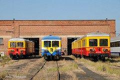 """Saint-Ghislain : """"musée du train"""" avec divers autorails en expo"""