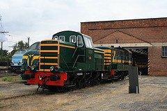 """Saint-Ghislain : """"musée du train"""" avec divers locotrateurs en expo"""