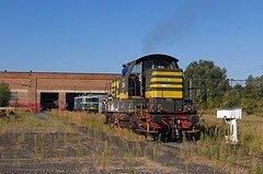 """Saint-Ghislain : """"musée du train"""" avec un locotracteur 7076 en expo"""