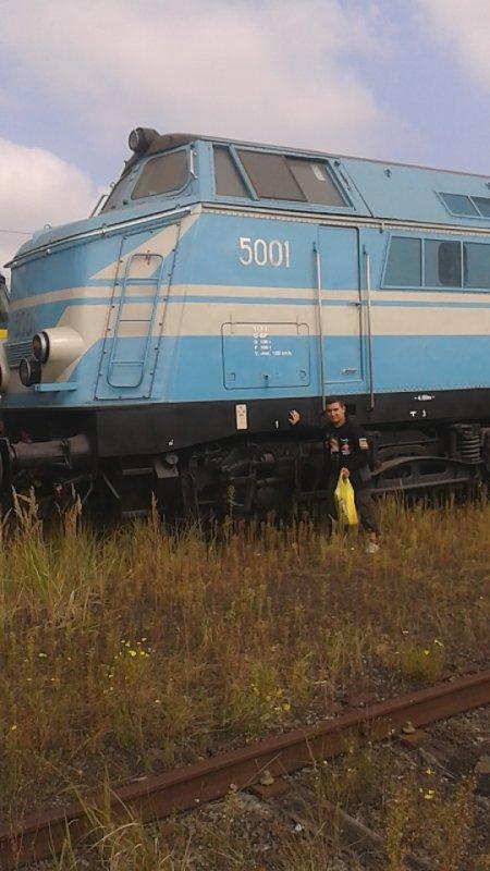 notre petite visite au musée ( PFT ) à Saint-ghislain ce 13/09/14 -- P13 -- magnifique loco diesel série 51 et moi