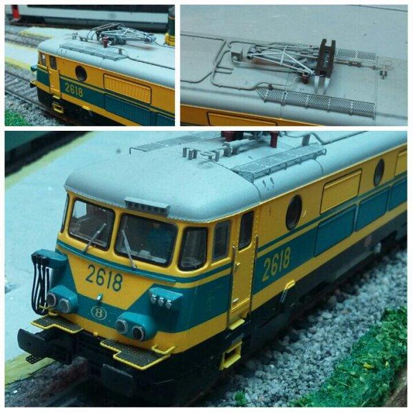 Notre locomotive électrique Mehano Prestige série 26 ( 2618 ) en livrée jaune / bleue