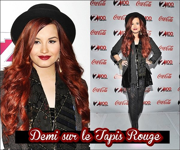 09/12/11 : Demi est apparut lors de l'évênement au Z100 Jingle Ball