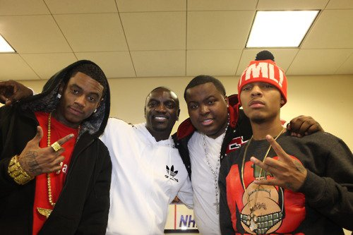 Soulja Boy Akon Sean Kingstan and Bow Wow