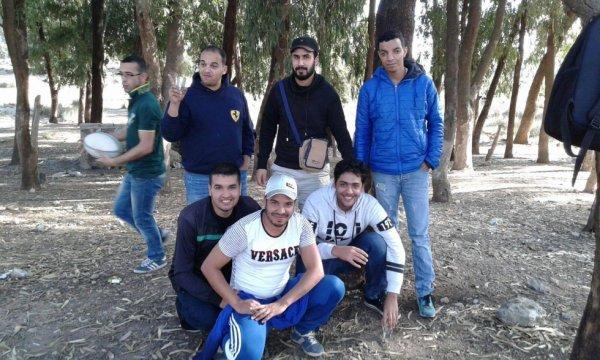 moi avec mes amis adnan et hasan said yassin atman et amin