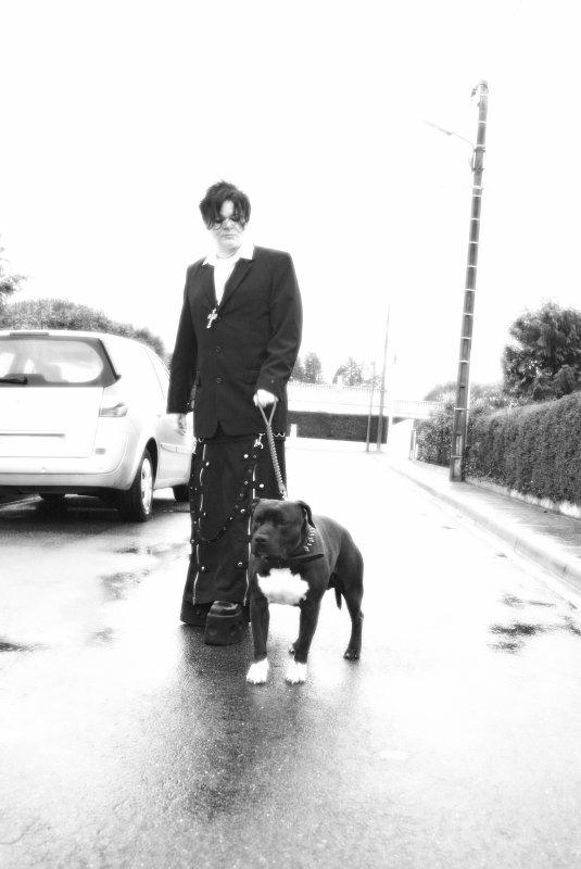 Moi et mon American Staffordshire Terrier..... Twiggy
