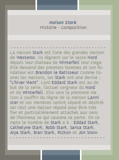 GAME OF THRONE :: Maison Stark |----Création----|----Décoration----|----WinterfellThrone----|