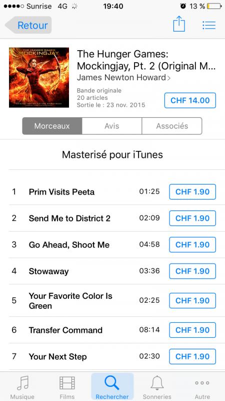 BO de Mockingjay : Part 2 disponible sur iTunes