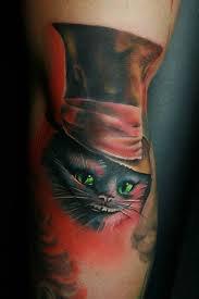 Tatouage alice au pays des merveilles blog de tatoo my life - Tatouage chat alice au pays des merveilles ...