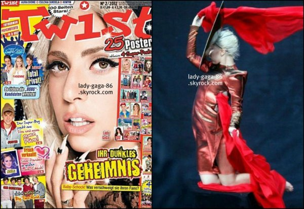 Lady Gaga en couverture du magazine Allemand TWIST + une photo de Behind The Scene + Marry The Night + Music Video