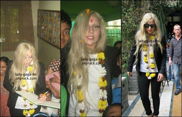 29/01/12 - Lady Gaga à l'orphelinat de la fondation NAZ en Inde.