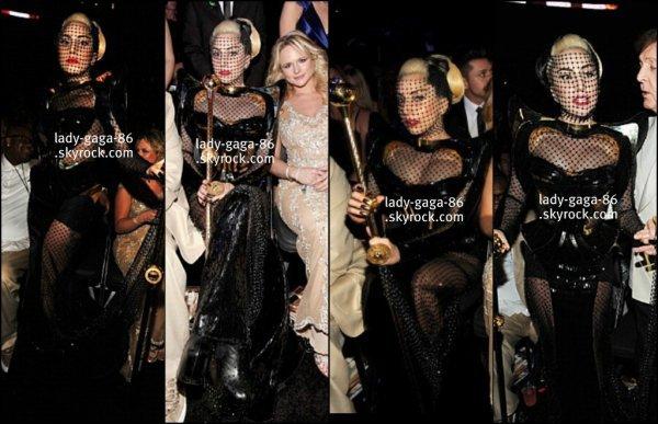 12/02/2012 - Lady Gaga à la cérémonie des Grammy Awards 2012.