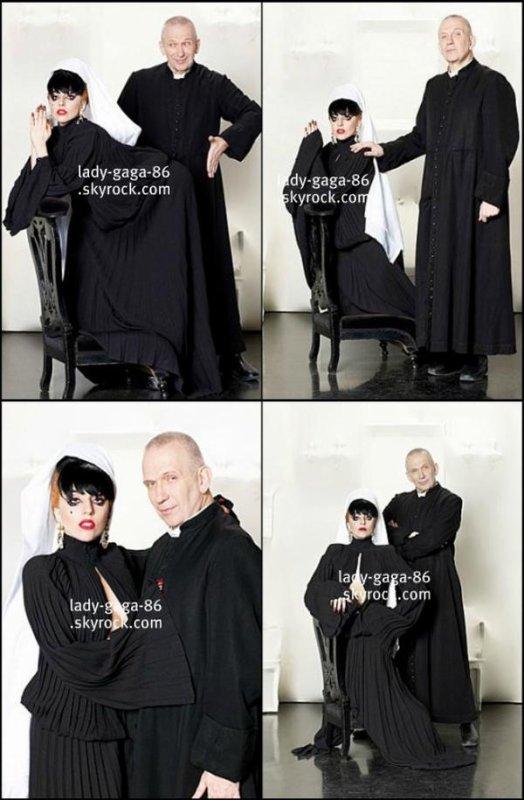 Lady Gaga & Jean-Paul Gaultier par le photographe Slam (2011).