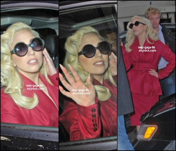 01/03/12 - Lady Gaga vue sortant du restaurant Joanne à New-York.