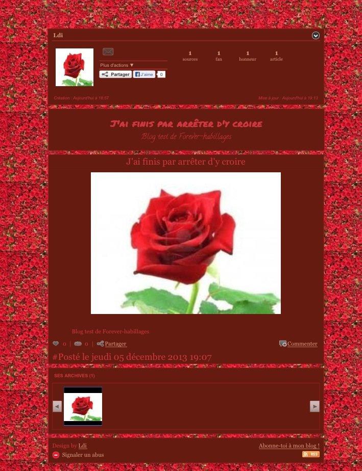 Habillage roses