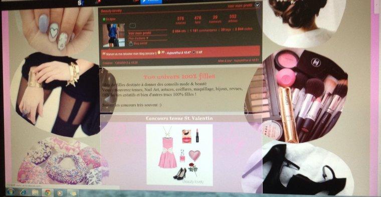 Commandes d'images de fond & couleurs d'habillages faits par moi pour Beauty-lovely