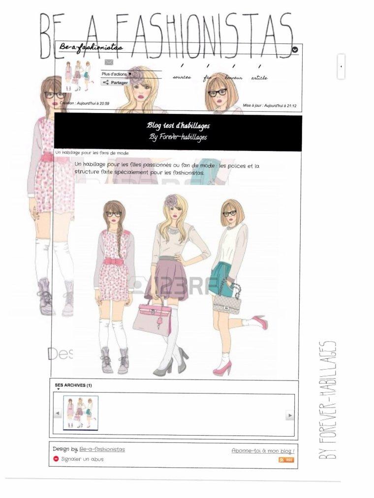 Habillage pour les fashionistas