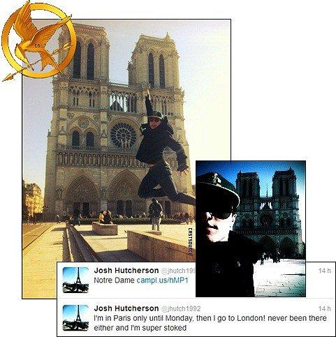 * Josh Hutcherson (alias Peeta) est arrivé hier matin à Paris pour l'avant première de « Voyage au centre de la terre 2 » qui aura lieu dimanche 12 fevrier. *