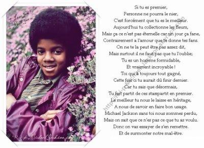 Voici Un Petit Poème Pour Michael Jackson Blog De Michael