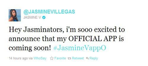 Son application officielle arrive bientôt ! # JasmineVappO
