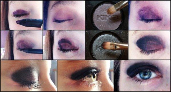 Smokey Eye violet et noir