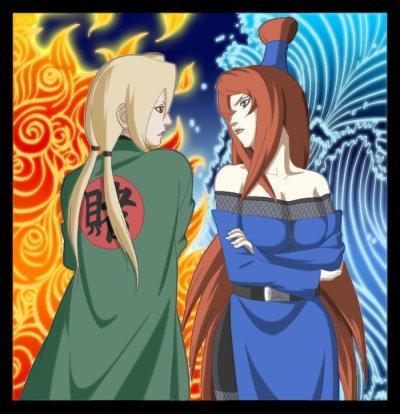 TERUMI (mizukage) VS TSUNADE (hokage)