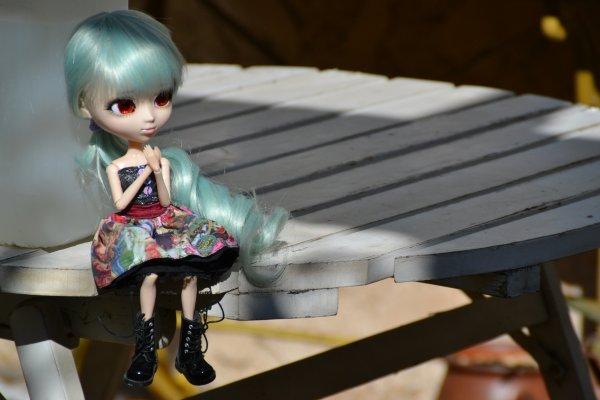 Séance photo d'Azilis et essai de wig..