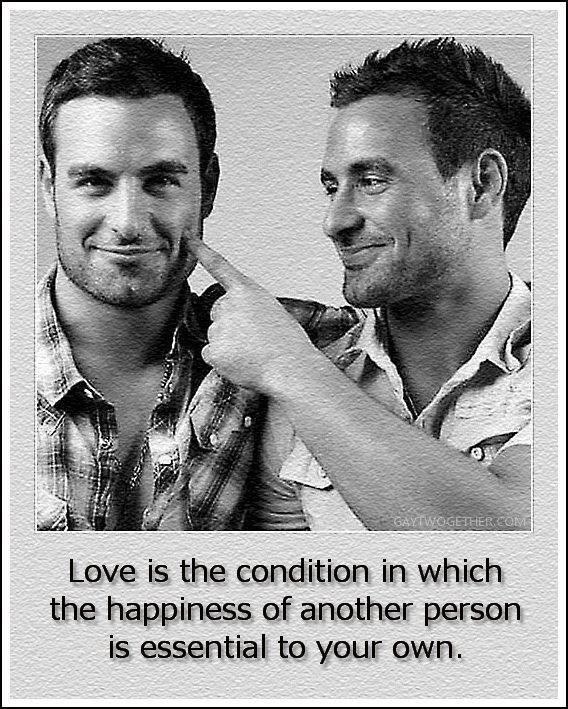 l'amour est l'état dans lequel le bonheur d'une autre personne est essentielle à la vôtre.