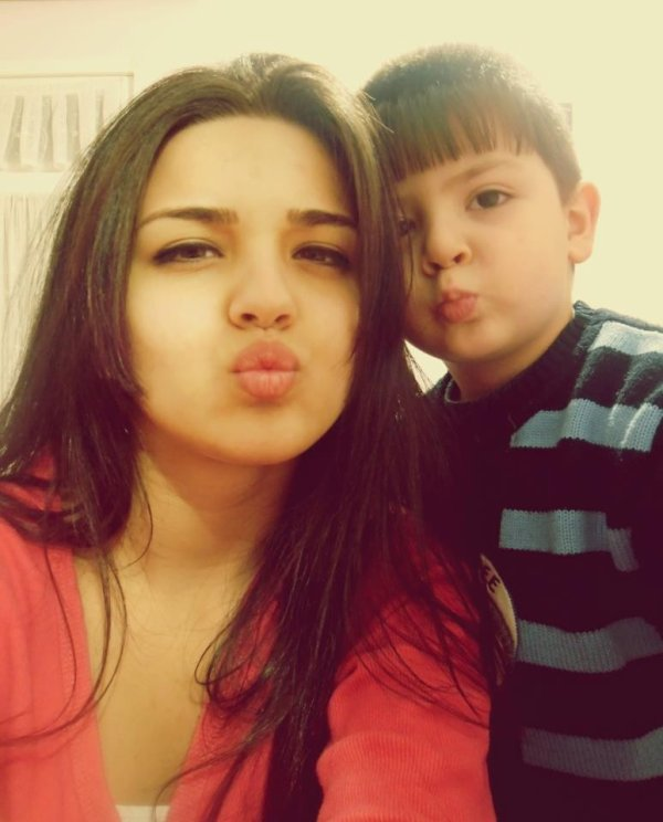 Smiling today ,me and my little brother (l) ,kisss