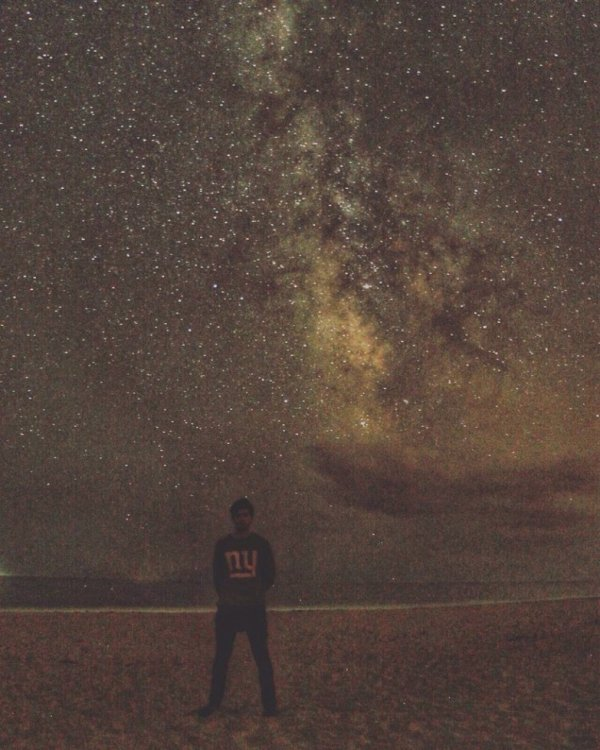 Photo instagram @MatthewDaddario Milky way Matt