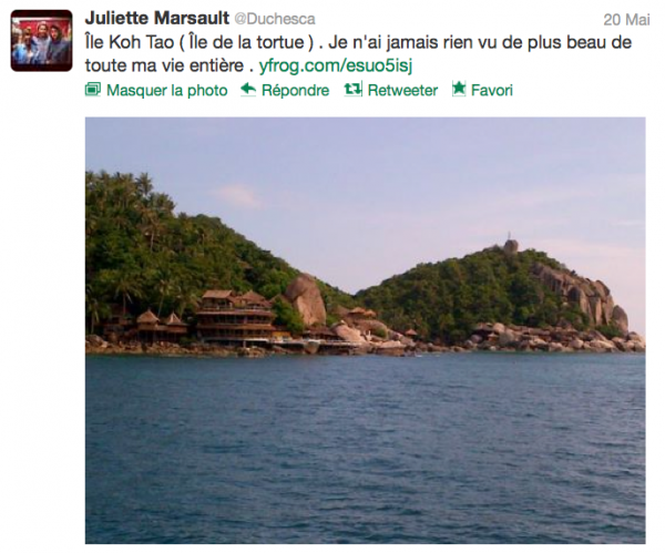 News twitter de juliette 20/05/12