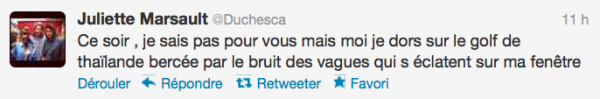 News twitter de juliette 24/05/12