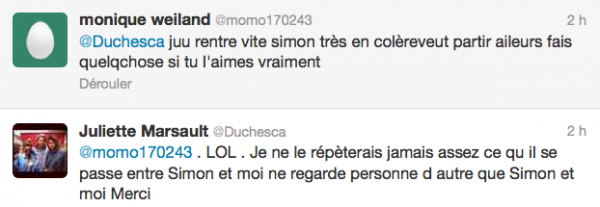 News twitter de juliette 29/05/12