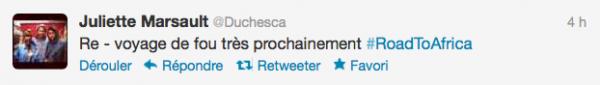 News twitter de juliette 30/05/12