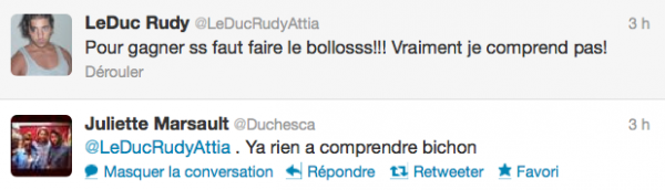 News twitter de juliette 01/06/12